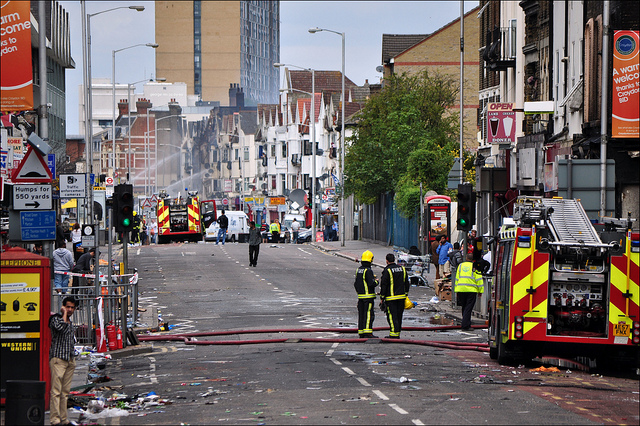 Aftermath of London riots by George Rex