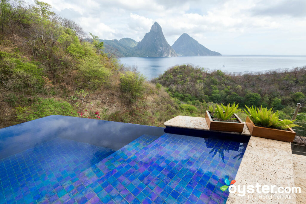 Infinity Pool Sanctuary presso Jade Mountain Resort, St. Lucia / Oyster
