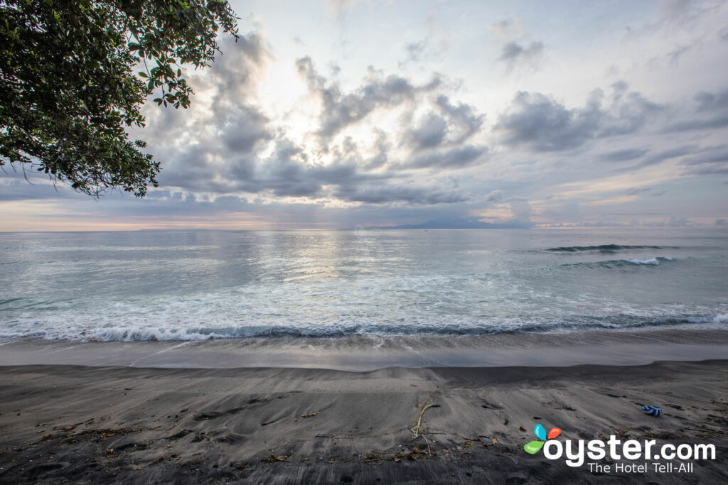 Distant View of Mount Agung from Living Asia Resort and Spa; Oyster