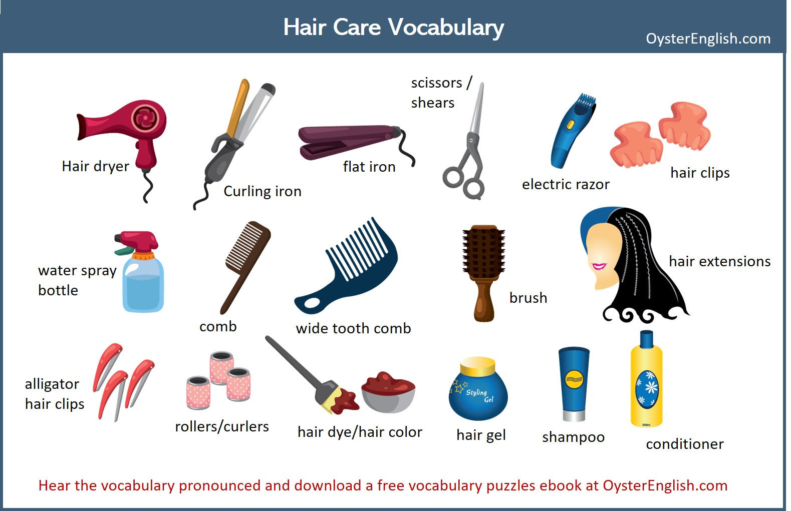 English Hair Care Vocabulary
