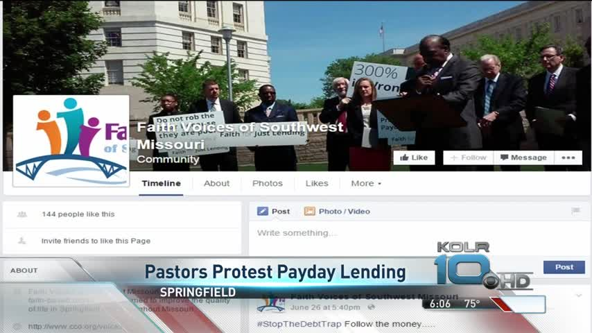SGF Faith Leaders Protest Against Payday Loan Industry_20160086-159532