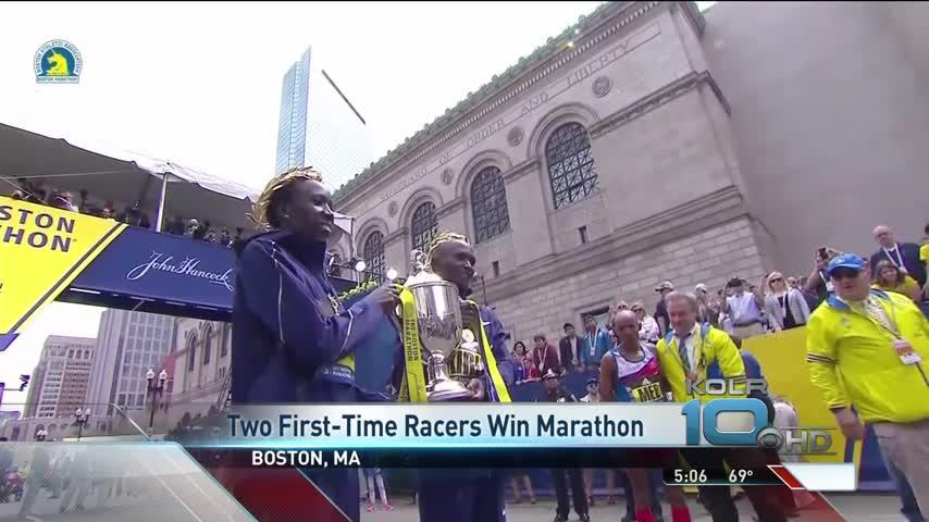 Two First-Time Racers Win Boston Marathon_35748837
