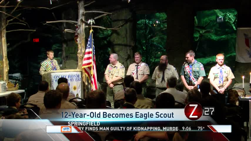 12-Year-Old Spends Years Becoming Eagle Scout_99370708