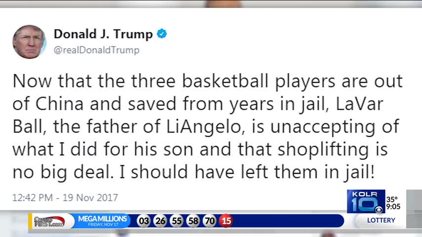Trump Tweets He Should Have Left UCLA Players in Chinese Jai_45813489