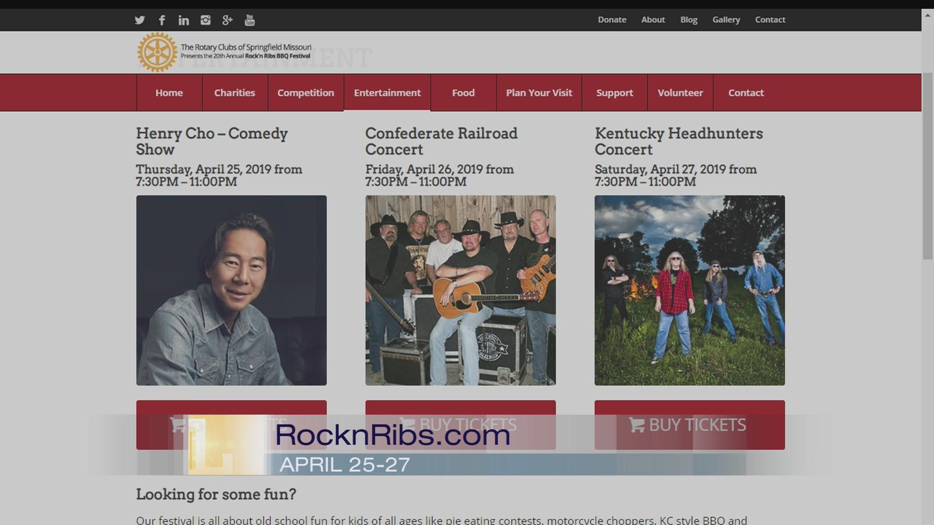 20th Annual Rock'n Ribs - 4/10/19