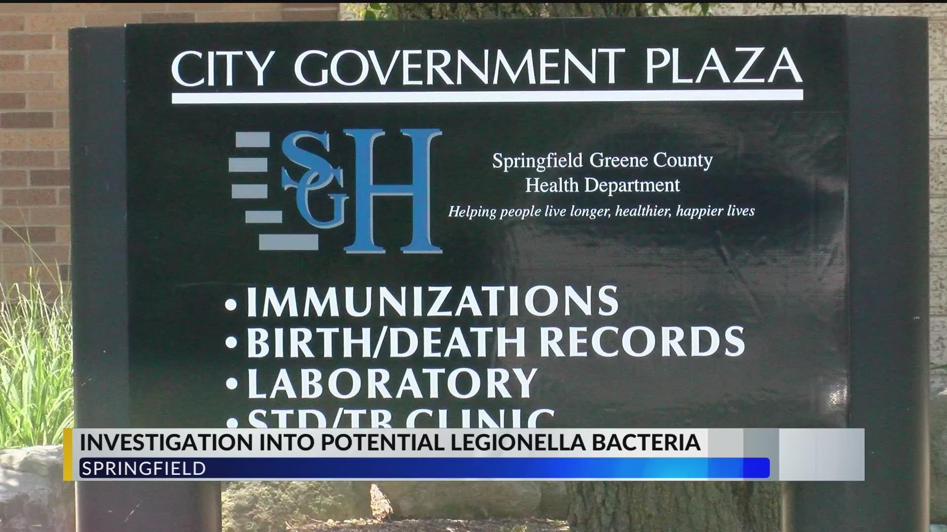 Springfield health officials advise of potential exposure to Legionella bacteria