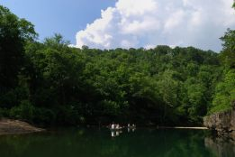 Photograph of canoeing on the Jack's Fork, Ozark National Scenic Riverway.