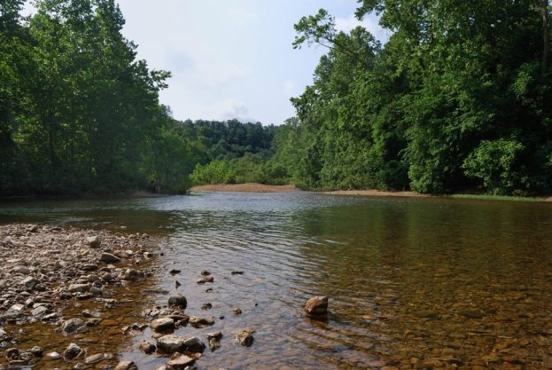 Photograph of Jacks Fork, taken at Blue Spring Campground, Ozark National Scenic Riverway
