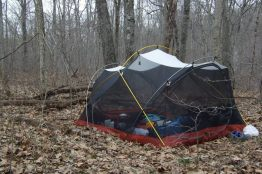 Our Mutha Hubba tent set up with out the flysheet