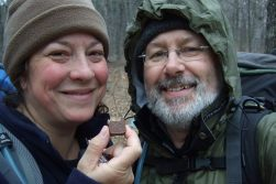 Photograph of Ginger Davis Allman and Gary Allman on the Berryman trail March 2011