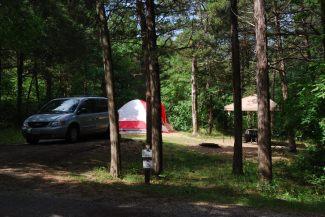 Camping at Big Bay public use area