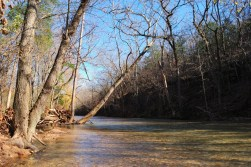 The creek can be very picturesque in the fall.