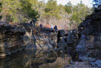 Rock formations at Long Creek Falls, Hercules Glades Wilderness