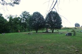 My first exploration off the Red trail led me to this very well kept private cemetery just outside the Busiek boundary.