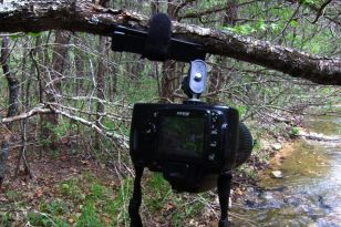 Ultra-pod tripod in use with a Nikon D40X