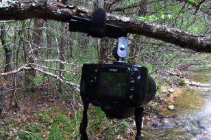 Ultra-pod tripod in use with a Nikon D40X