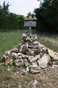 Cairn at North end of Cedar Trail - Hercules Glades