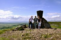 Keith, Gary and Ginger - Jubilee Beacon, Dumyat, Stirling, Scotland