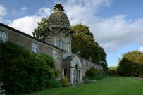 Pineapple shaped roof on the Dunmore Pineapple Folly, Scotland