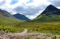 The footpath up Lairig Gartain, Glencoe