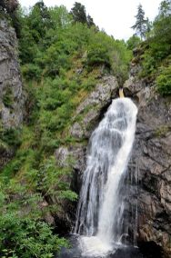 The Falls of Foyers drop 165 feet , near Loch Ness Scotland