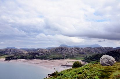 Taken from the top of a 400 foot cliff near Little Gruinard. View to the East across Gruinard Bay