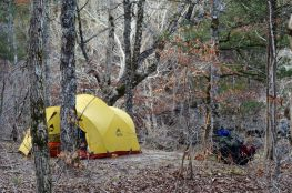 Camped overlooking Long Creek Falls - Hercules Glades Wilderness