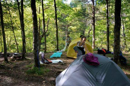 Camped above Long Creek Falls - Hercules Glades Wilderness