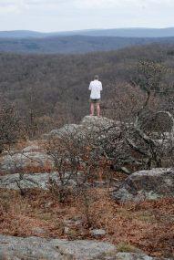 Gary near the summit of Bell Mountain in Iron County, Missouri