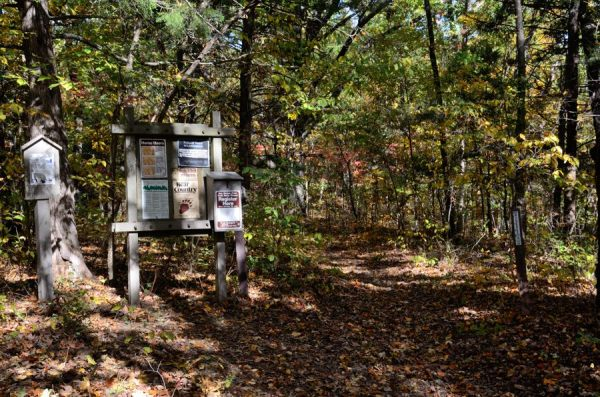 Hercules Glades Wilderness - Registration point at the start of the Pilots Trail