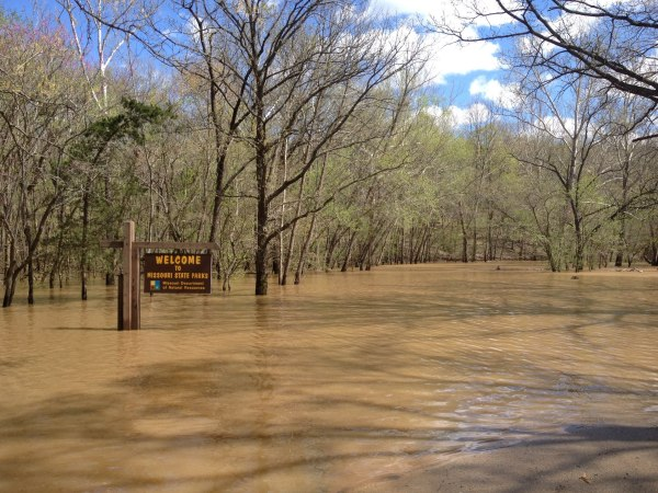 Flooding at St Francois State Park - Picture St. Francois Sate Park Facebook Page