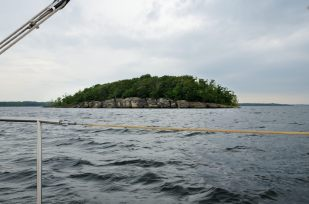 Photograph of Edge Island, Stockton Lake Missouri, taken from the south.