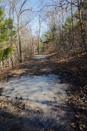 Ice on the Yellow / Silver Trail at Busiek