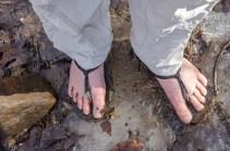 Ice on the White trail - Xero Shoes, Amuri Venture Huaraches