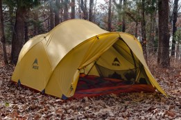 Photograph of a MSR Mutha Hubba tent at Berry Bend Campground, Missouri