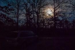 Moonrise and Minivan