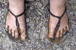 It was muddy so I have to take the obligatory gross muddy feet picture.
