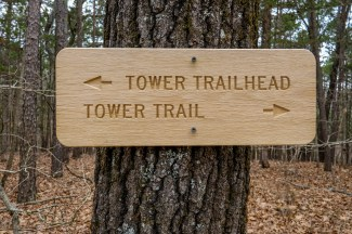 New signs and Trail Blazes at Hercules Glades. Be warned - Some trails have been re-named.
