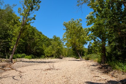 Hiking out along the Creek Bed. It was hot!