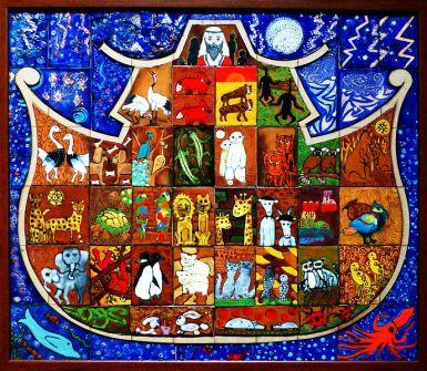 Noé bárkája Tűzzománc tanszak közös alkotása