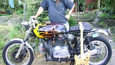 Photo of Laverda Rider and Artist