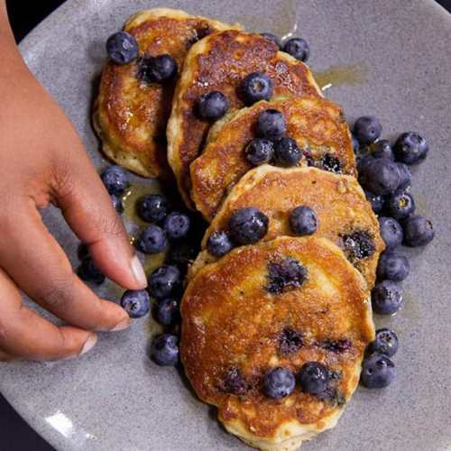 Blueberry Oat Pancakes by Zola Nene