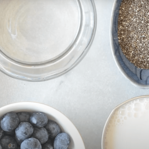 Image with chia seeds and blueberries