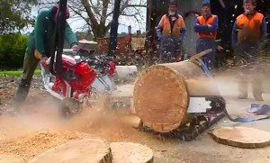 V8 Motor is Central to this Bad Boy Chainsaw's Awesomeness