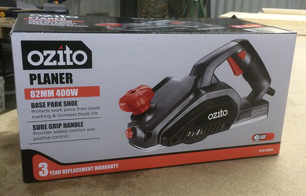 Ozito electric planer in box