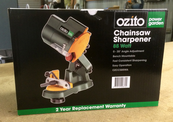 Ozito chainsaw sharpener
