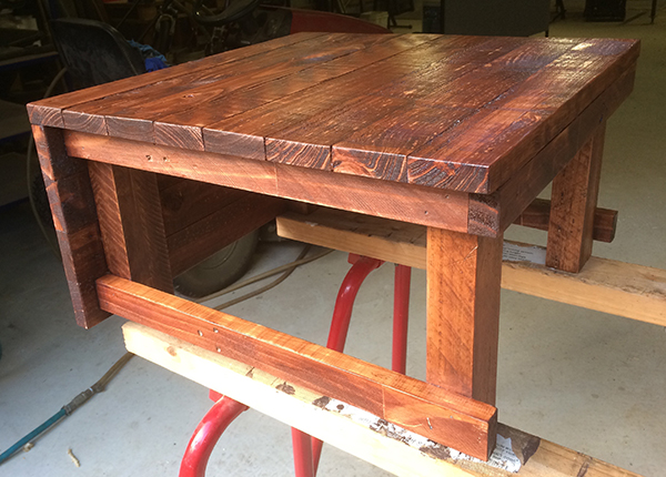 coffee table varnished