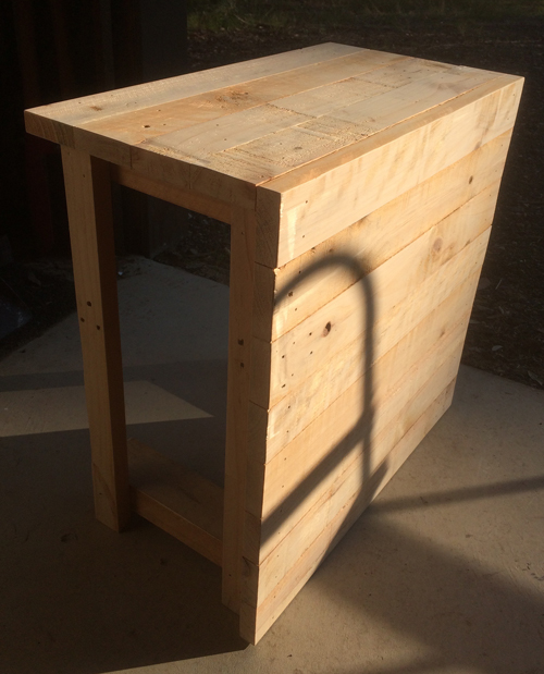 sanded side table