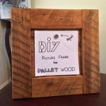 DIY Picture Frame from Pallet Wood