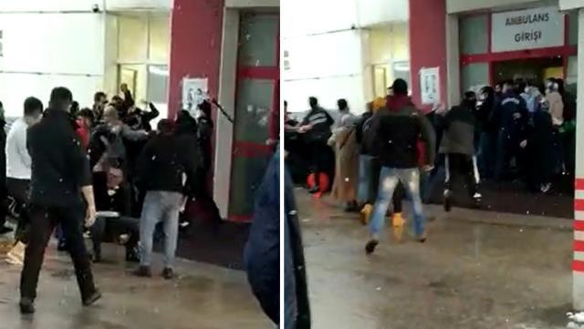 Hasta yakınları özel güvenlik görevlilerine saldırdı, hastane bahçesi savaş alanına döndü